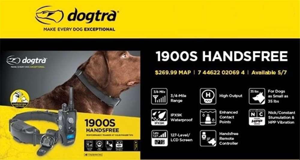 Dogtra 1900S Handsfree | gun dog dog outfitter | gundogoutfitter.com