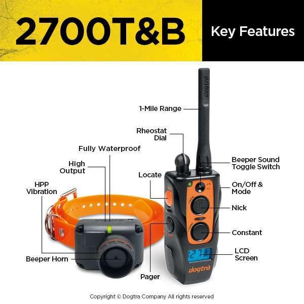 Dogtra 2700T&B Train & Beep | gun dog outfitter | gundogoutfitter.com