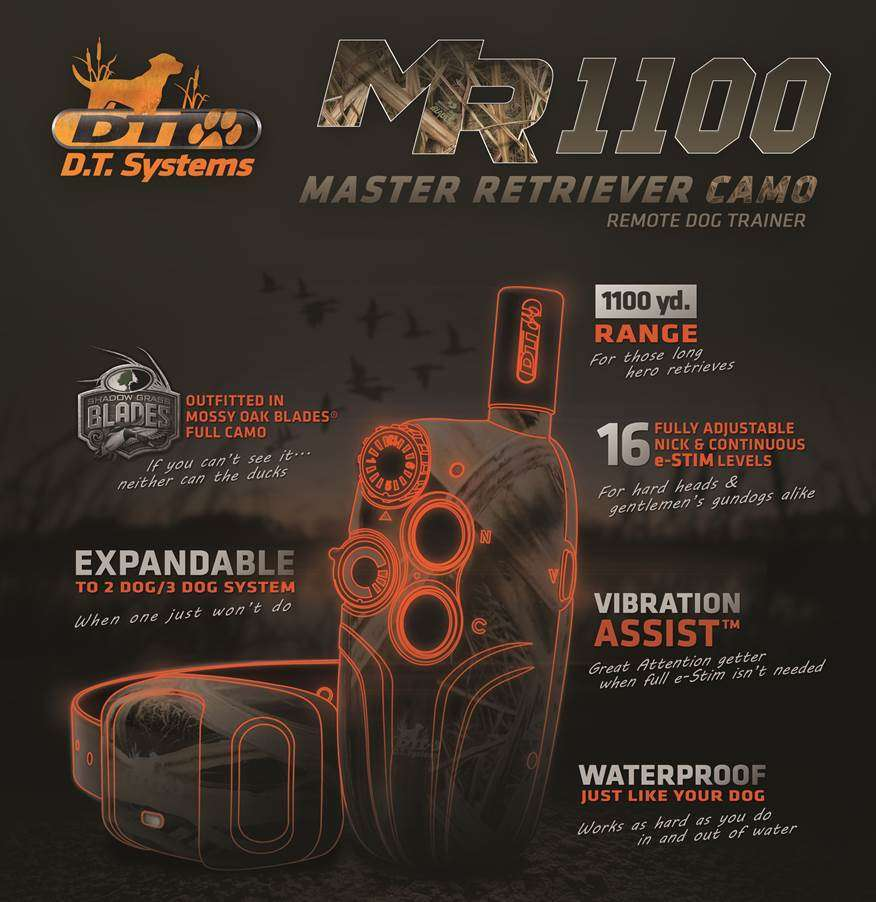 DT Systems Master Retriever 1100   gun dog outfitters   gundogoutfitter.com