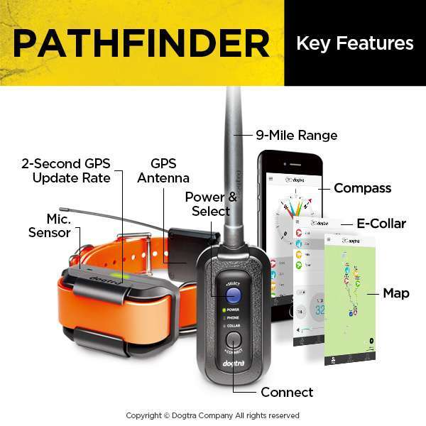 Dogtra Pathfinder GPS + E-Collar | gun dog outfitter | gundogoutfitter.com