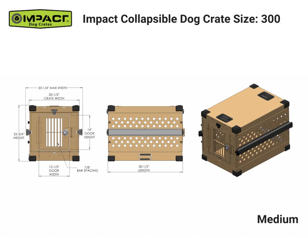 Impact Crate Medium|gun dog outfitter|gundogoutfitter.com