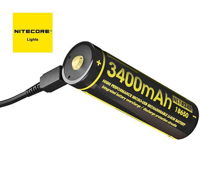 NITECORE P26 Tactical Flashlight with Rechargeable Battery