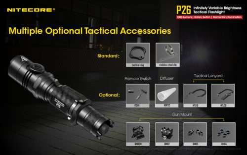 NITECORE P26 Tactical Flashlight Optional Tactical Accessories
