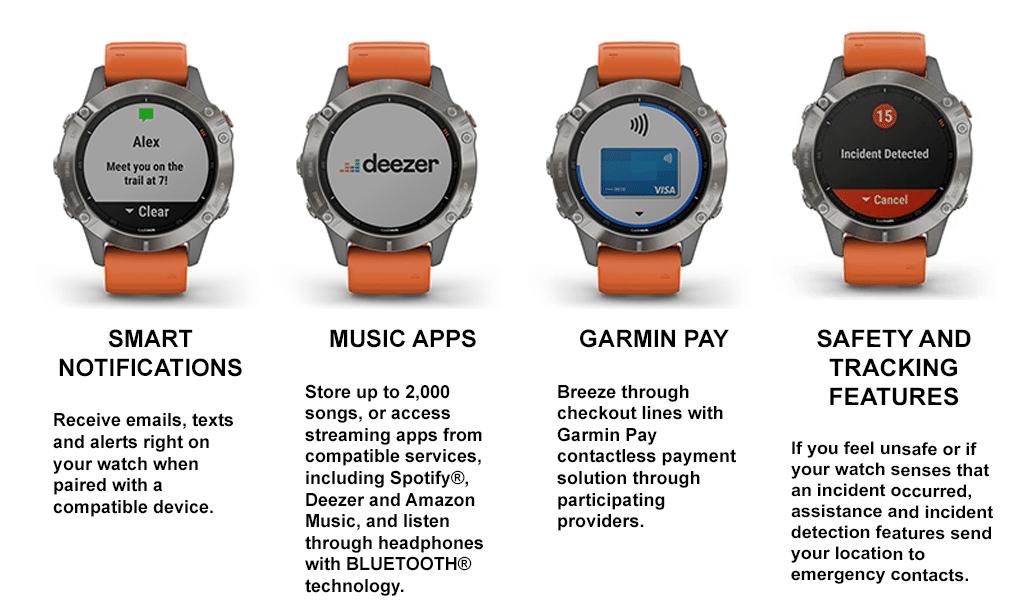 Garmin fēnix 6 Sapphire - Titanium - Adventure Watches