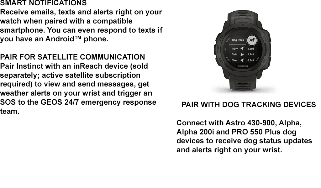 PAIR WITH DOG TRACKING DEVICES